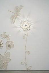Chrysanthemum and Dragonfly 102 x 38 inches